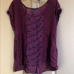 Purple loose blouse